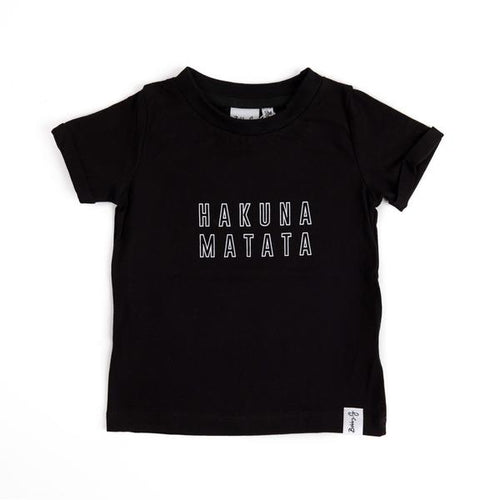 Hakuna Matata Tee - Black - Lottie and Moo Bowtique
