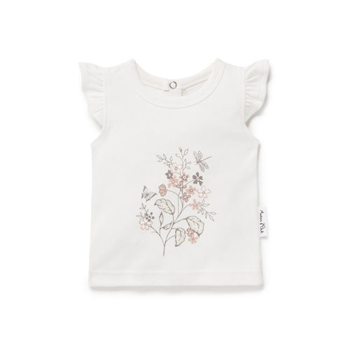 Summer Floral Print Tee - Lottie and Moo Bowtique