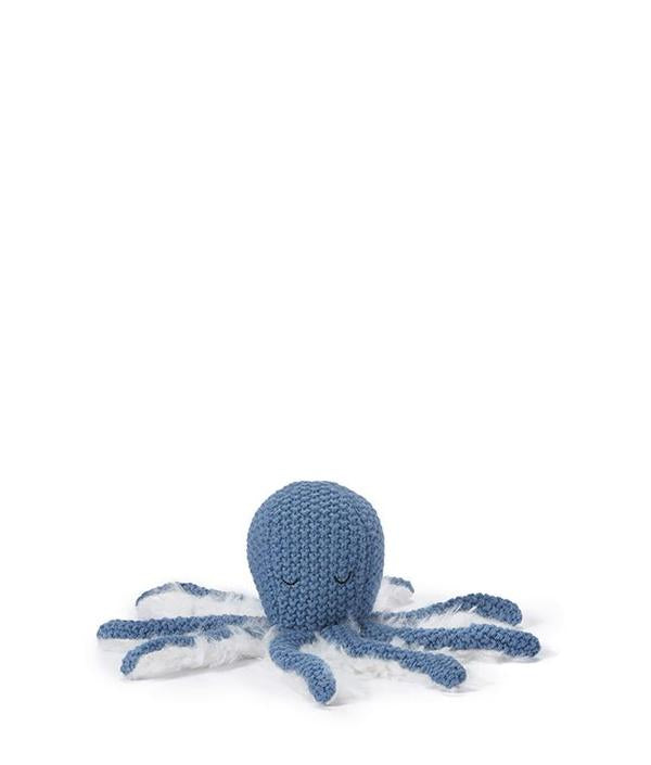 Ollie Octopus Rattle - Blue - Lottie and Moo Bowtique