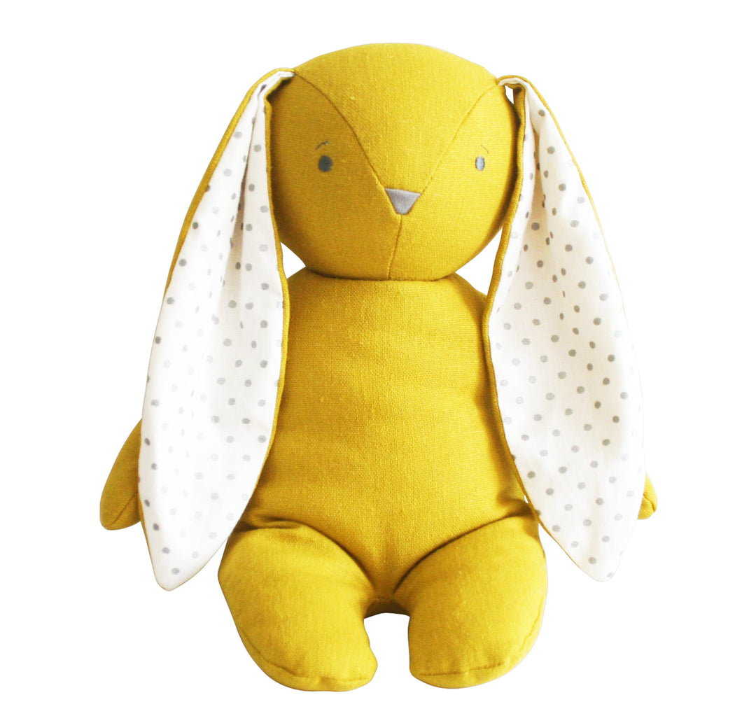 Bobby Floppy Bunny - Butterscotch Linen - Lottie and Moo Bowtique