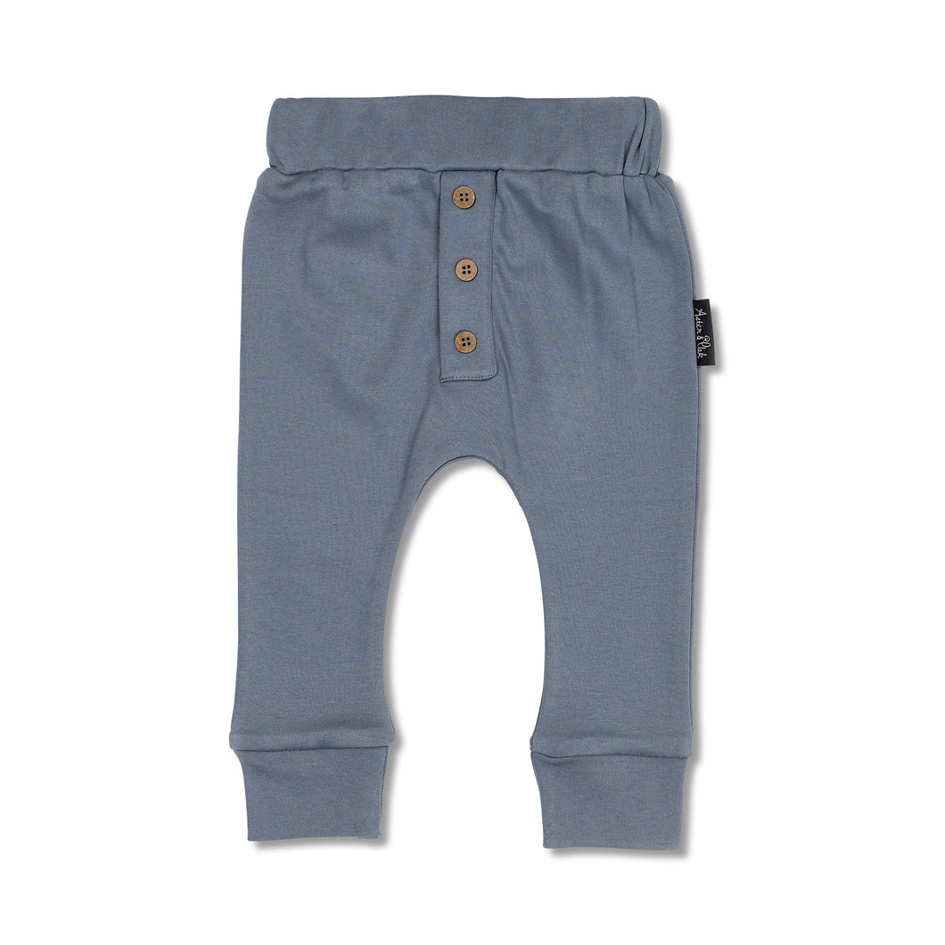 Navy Button Slouch Pant - Lottie and Moo Bowtique