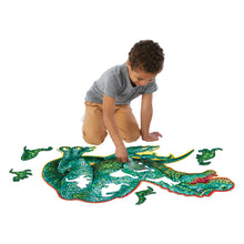 Load image into Gallery viewer, Shiny Dinosaur Floor Puzzle - Lottie and Moo Bowtique