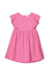 Pink Broderie Dress - Lottie and Moo Bowtique