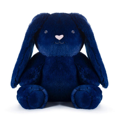 Navy Blue Bunny - Bobby Bunny Huggie - Lottie and Moo Bowtique