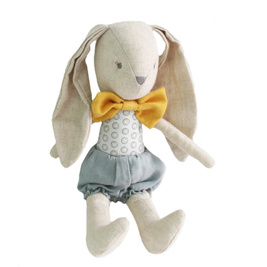 Baby Boy Bunny - Grey Butterscotch - 26cm - Lottie and Moo Bowtique