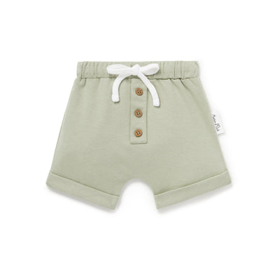 Sage Button Shorts - Lottie and Moo Bowtique