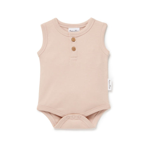 Rose Dust Singlet Onesie - Lottie and Moo Bowtique