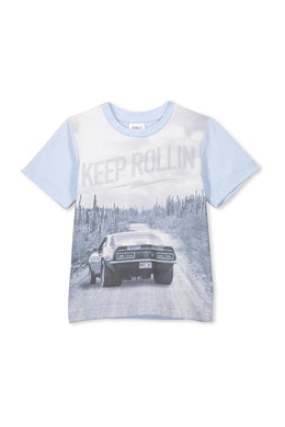 Keep Rollin Tee - Lottie and Moo Bowtique