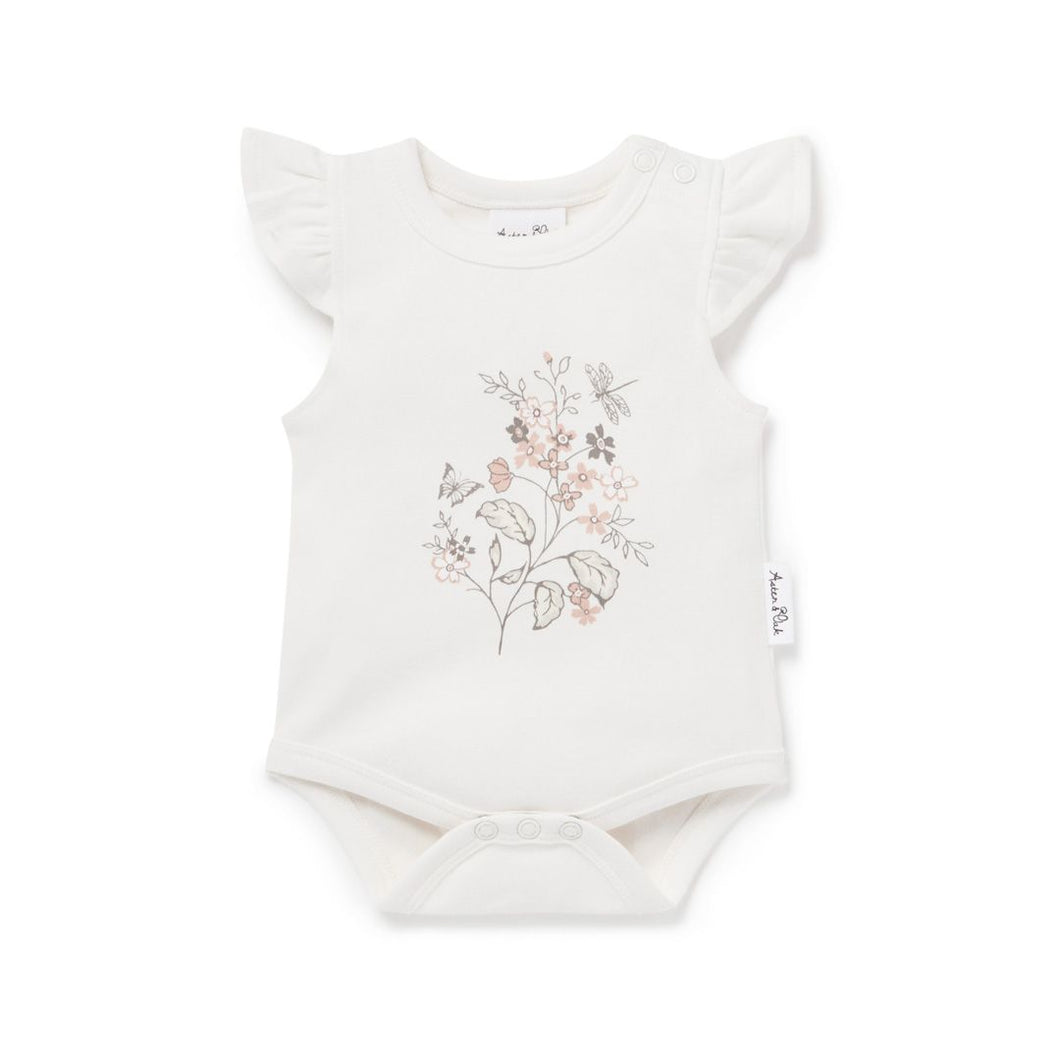 Summer Floral Print Onesie - Lottie and Moo Bowtique