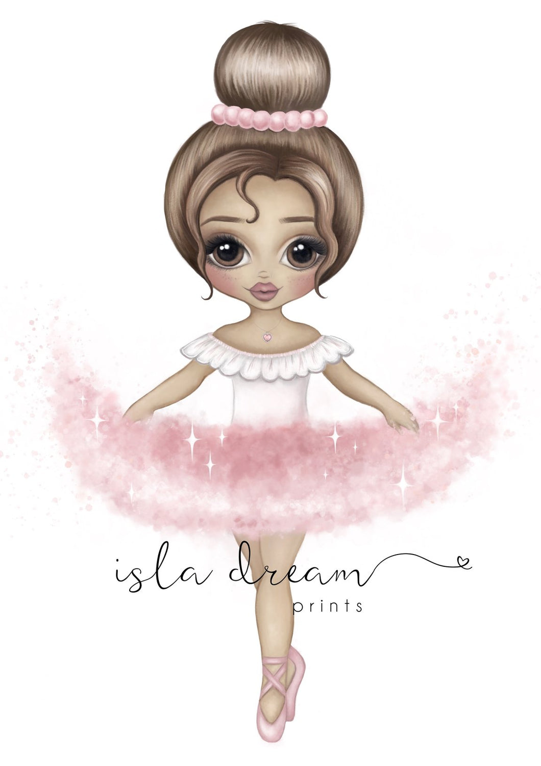 Ariana The Ballerina Print - Pink - Lottie and Moo Bowtique
