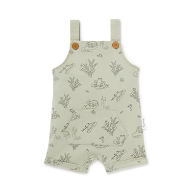 Frog Pond Pocket Overalls - Sage - Lottie and Moo Bowtique