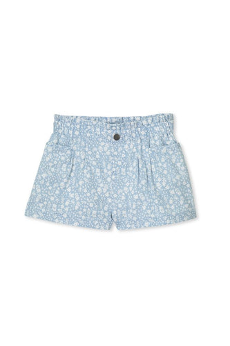 Denim Short - Chambray - Lottie and Moo Bowtique
