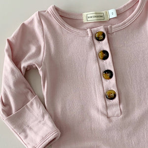 Newborn Sleep Gown - Peony - Lottie and Moo Bowtique
