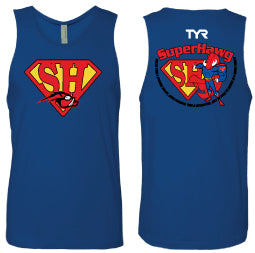 2018 AquaHawgs Team Tank Top - SuperHawg Royal Blue