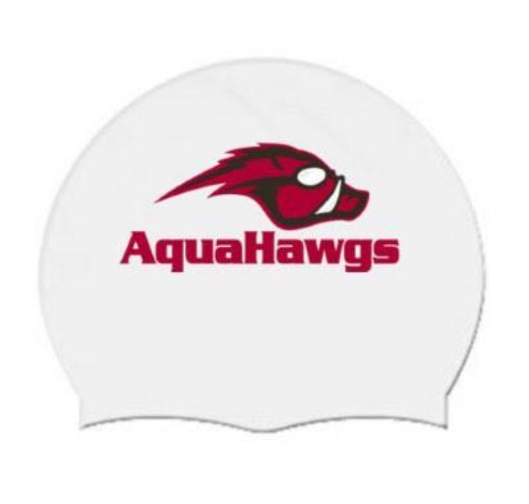 White AquaHawgs Team Cap - White Latex