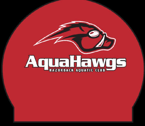 AquaHawgs Team Cap - Red Silicone
