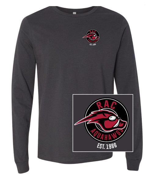 AquaHawgs Long Sleeve T Shirt - Graphite