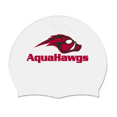 White AquaHawgs Team Cap - White Silicone