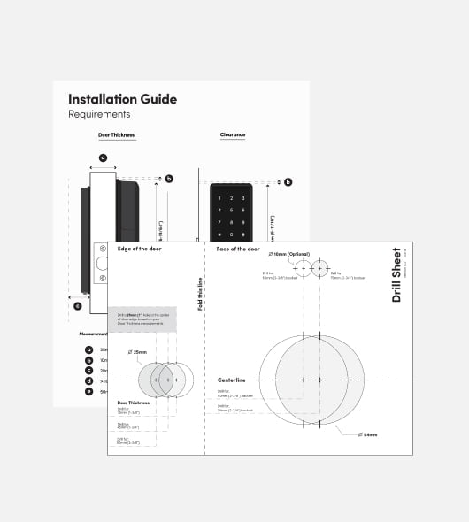 Drill Sheet & Installation Guide