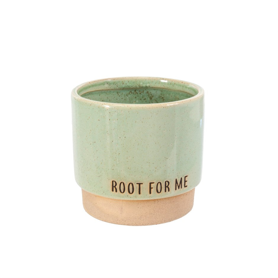 Root For Me - Green/Mint Coloured Planter