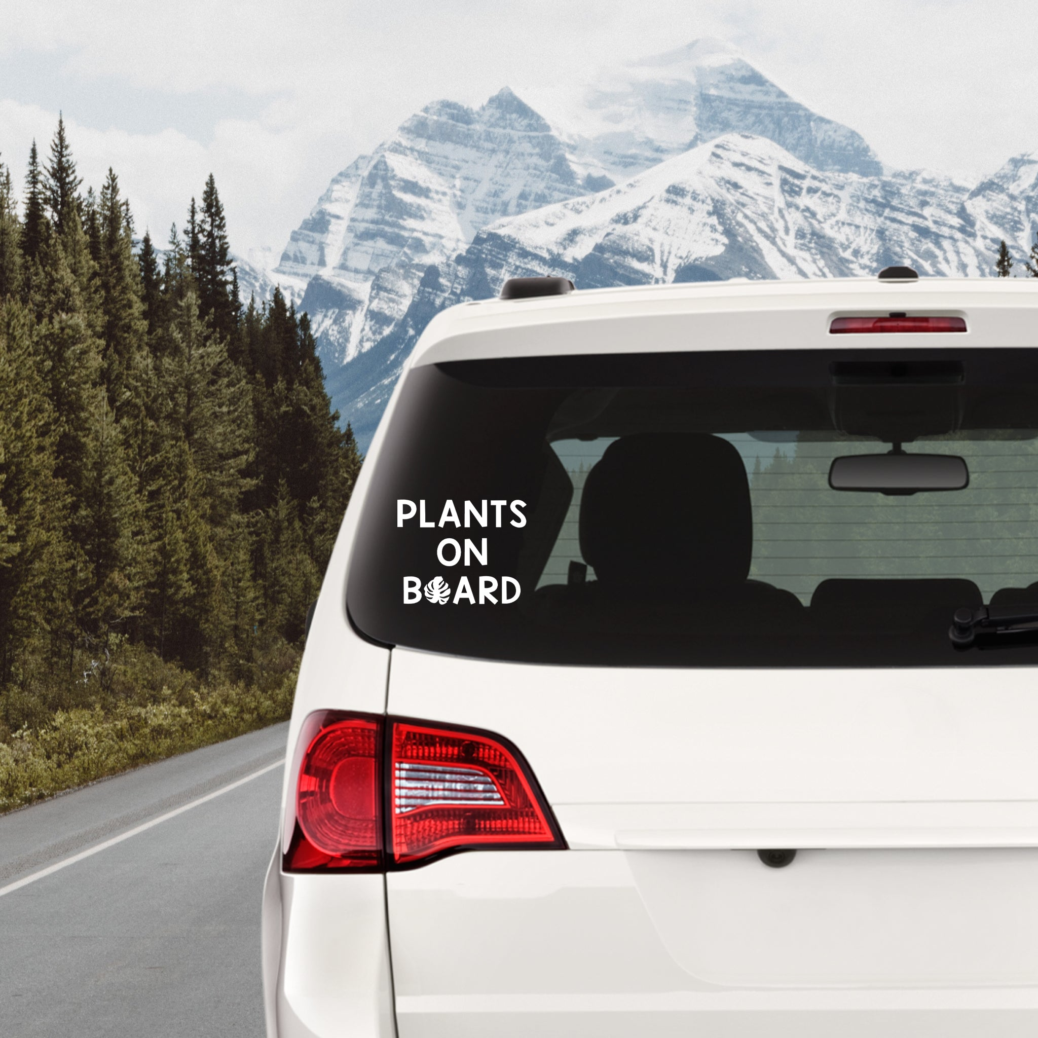 Plants on Board Decal