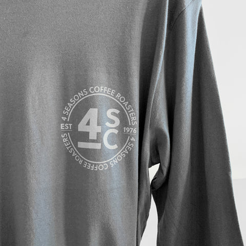 4 Seasons Coffee Long Sleeve T-Shirt - Asphault