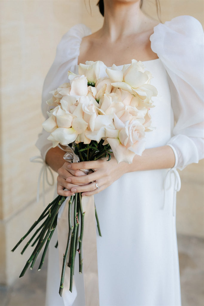 all for love London wedding flowers bride roses