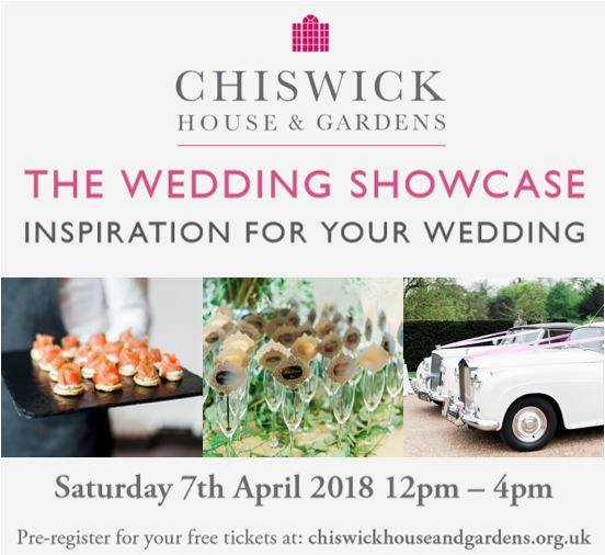 SAVE THE DATE - CHISWICK HOUSE & GARDENS WEDDING SHOWCASE SATURDAY 7 APRIL 2018