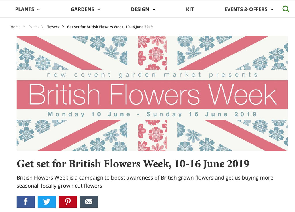 British Flowers Week Website June 2019