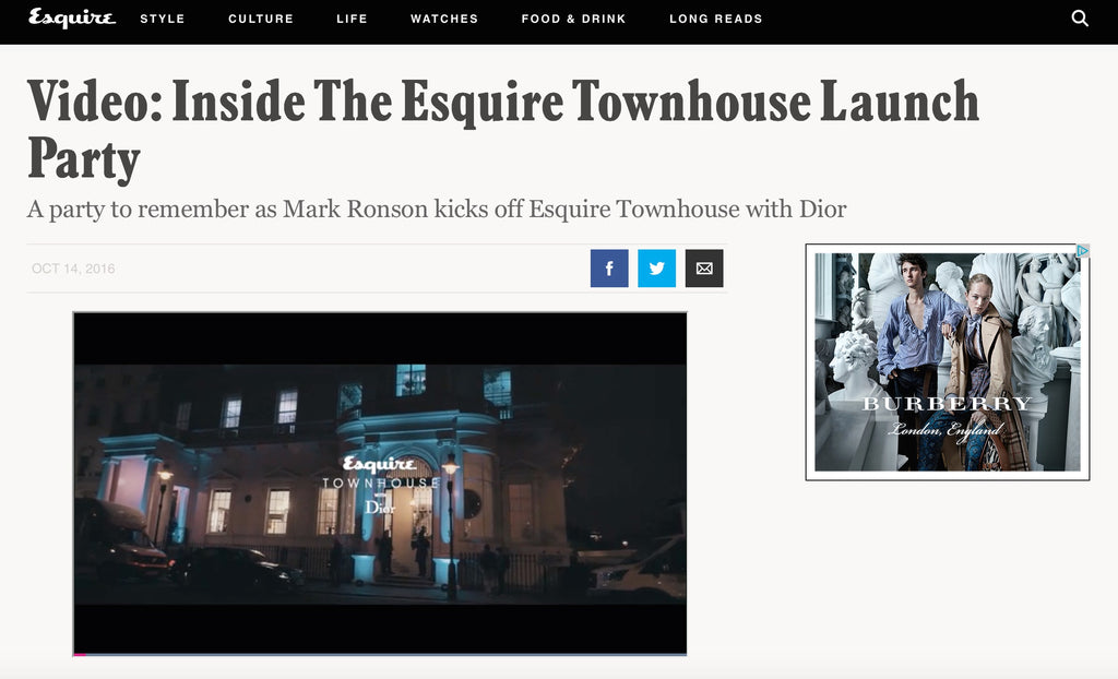 Esquire Townhouse Event October 2016