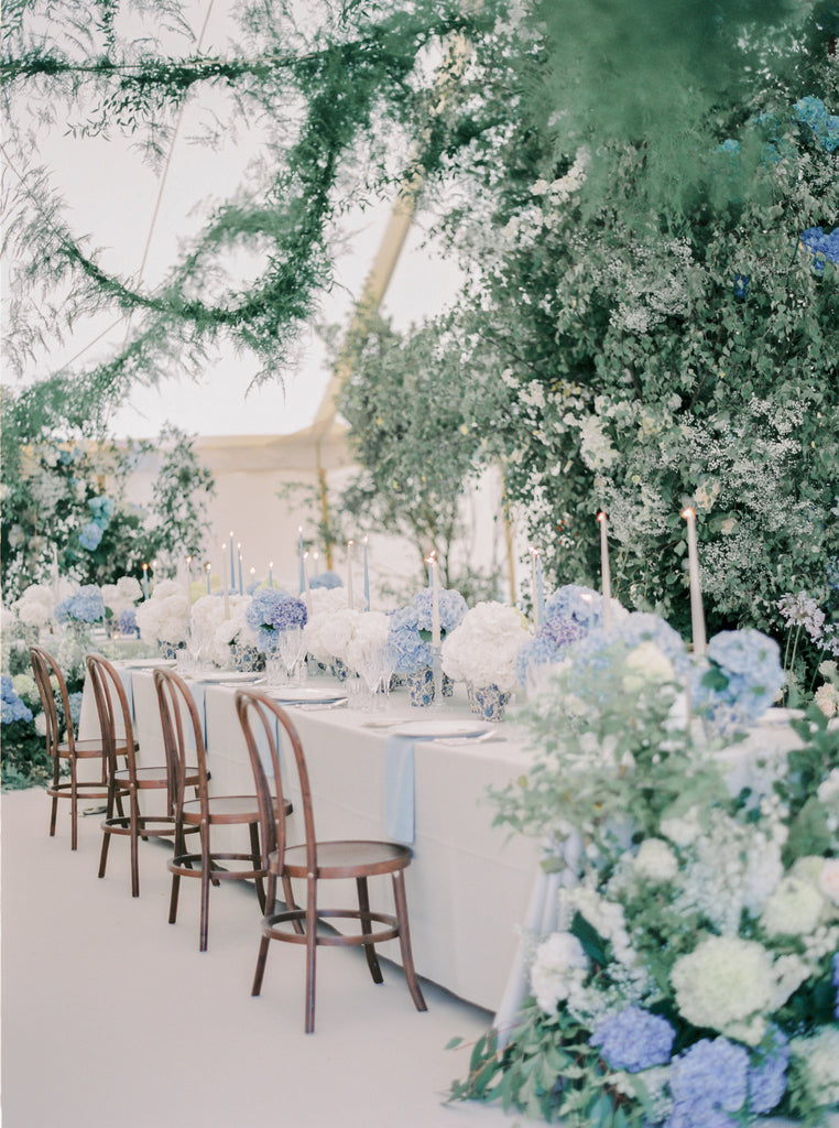 marquee wedding flowers all for love London blue