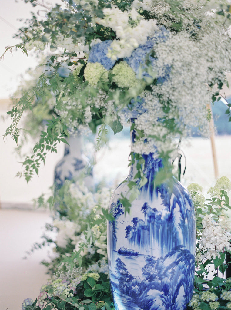 all for love London chinoiserie blue white flowers