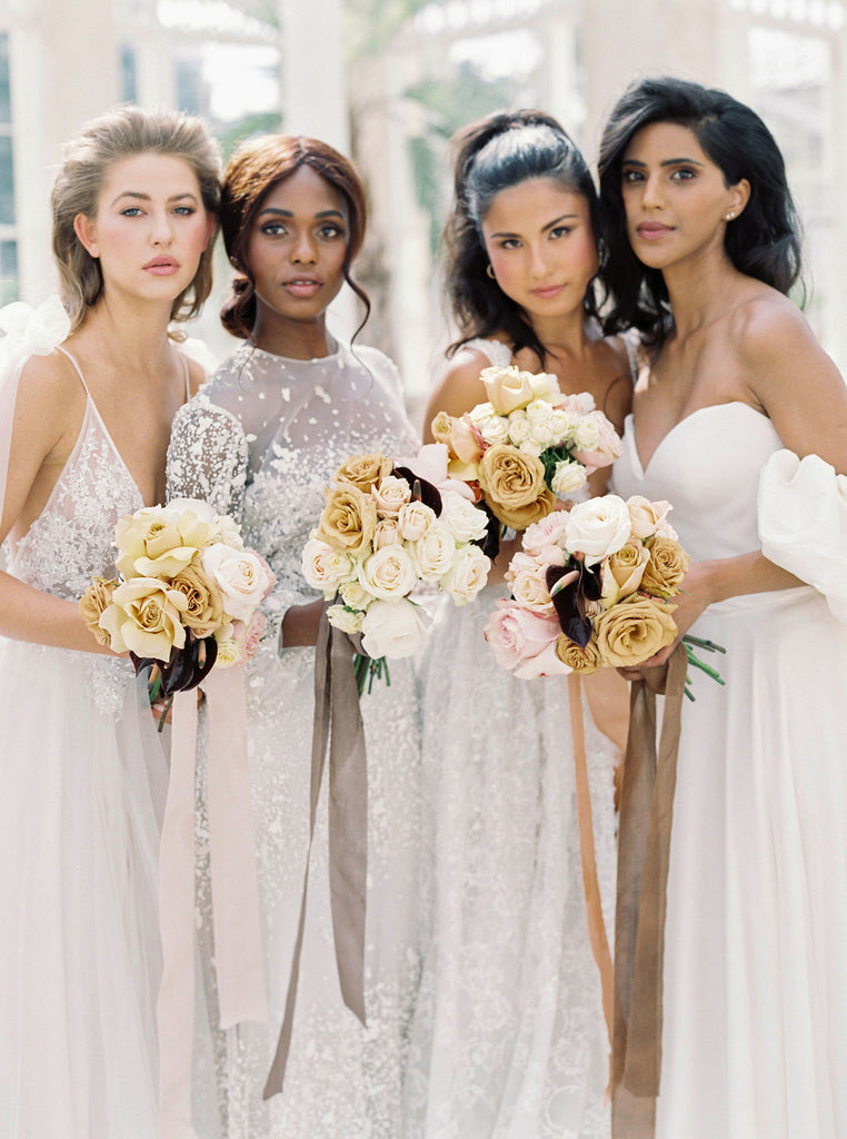 bouquets, skin tones, all for love London, flowers wedding florist