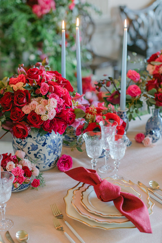 all for love London table flowers wedding