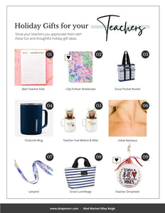 Teacher Gift Guide