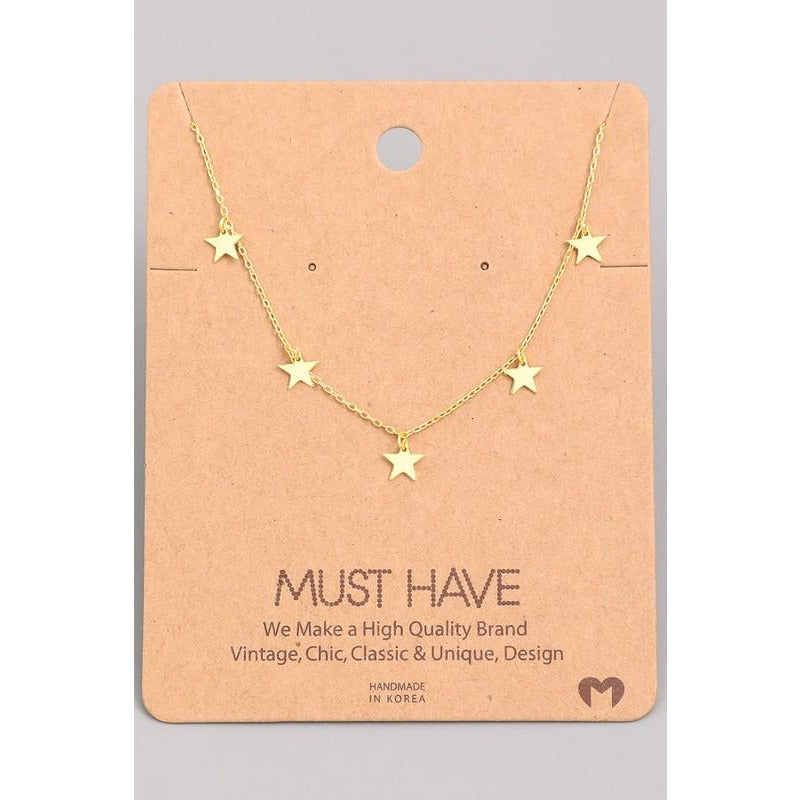 Mini Stars Charm Must Have Necklace