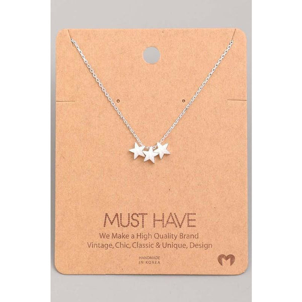 3 Star Must Have Necklace