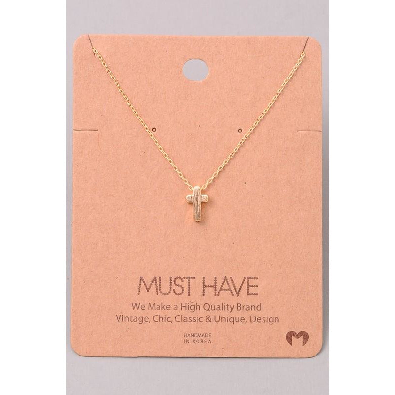 Mini Cross Must Have Necklace