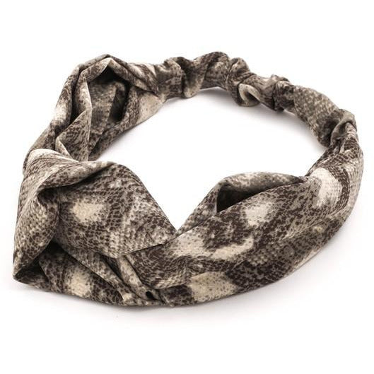 Snake Print Knot Soft Head Band