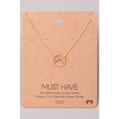 Wave Cut Out Necklace