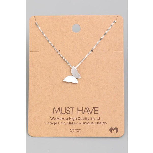 Solid Butterfly Must Have Necklace