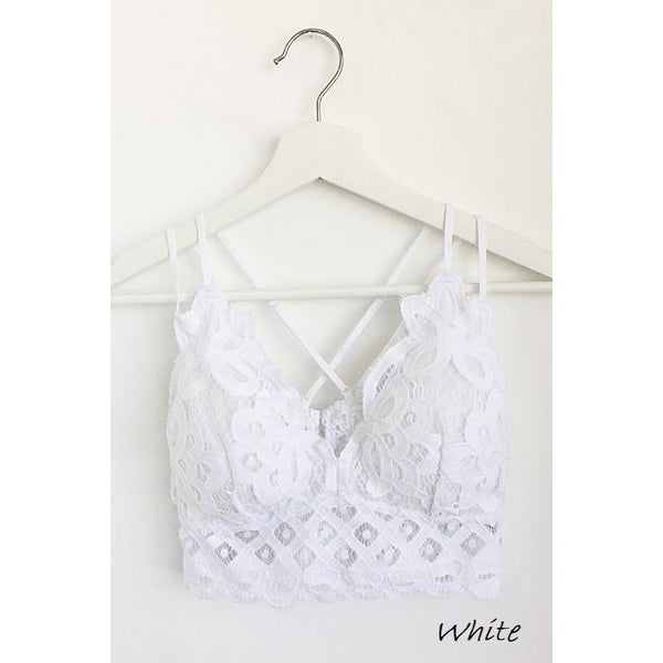 Lace X-Back Bralette