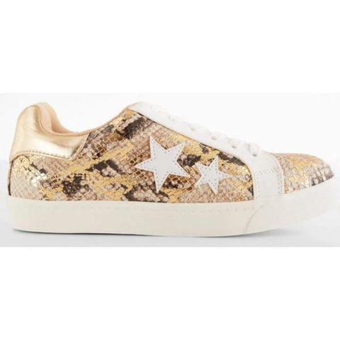 Gold Snakeskin/Star Graphic Sneaker