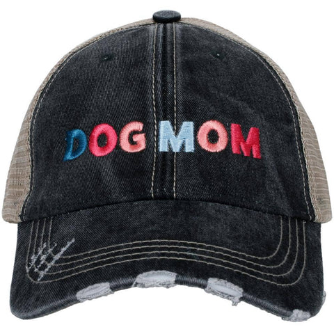 Dog Mom Multicolored Trucker Hat by Katydid