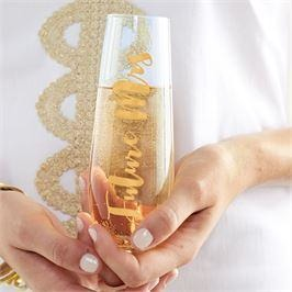 Bride Stemless Champagne Glasses