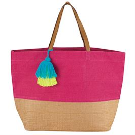 Mud Pie Color Pop Jute Tote