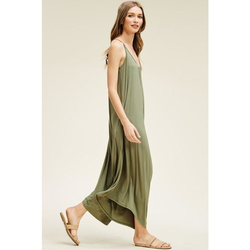 538c9d8eb9 Solid Knit Wide Leg Jumpsuit-Olive – Riley Reigh   Mod Market