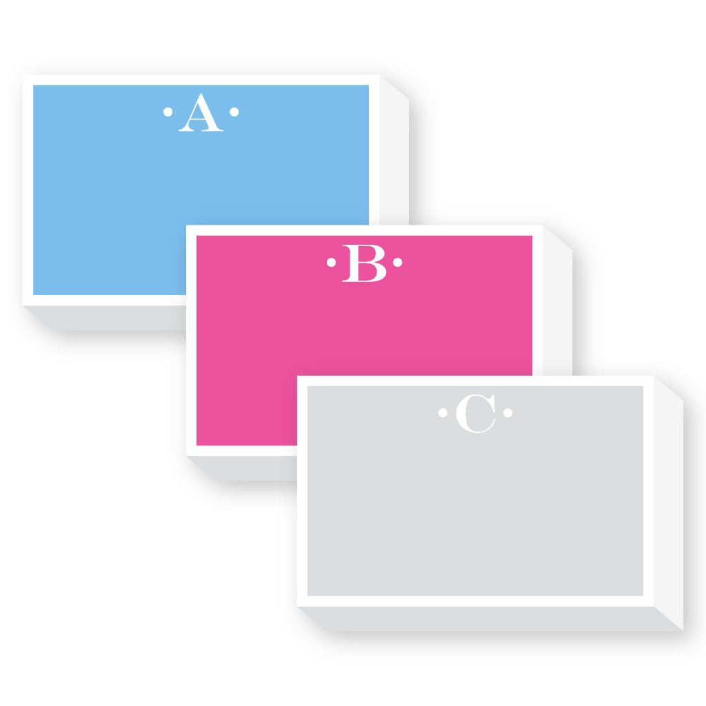 Big & Bold Initial Notepad