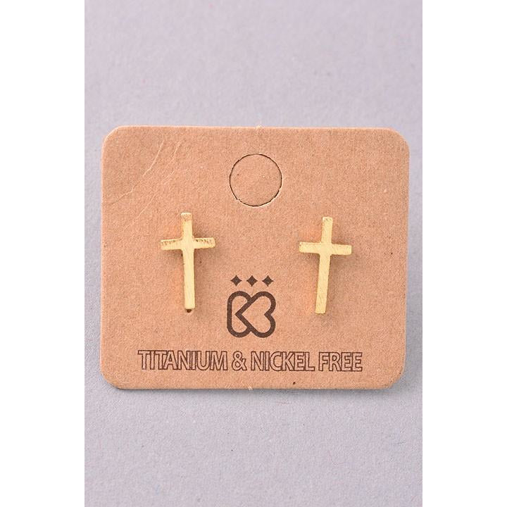 Tiny Cross Must Have Earring