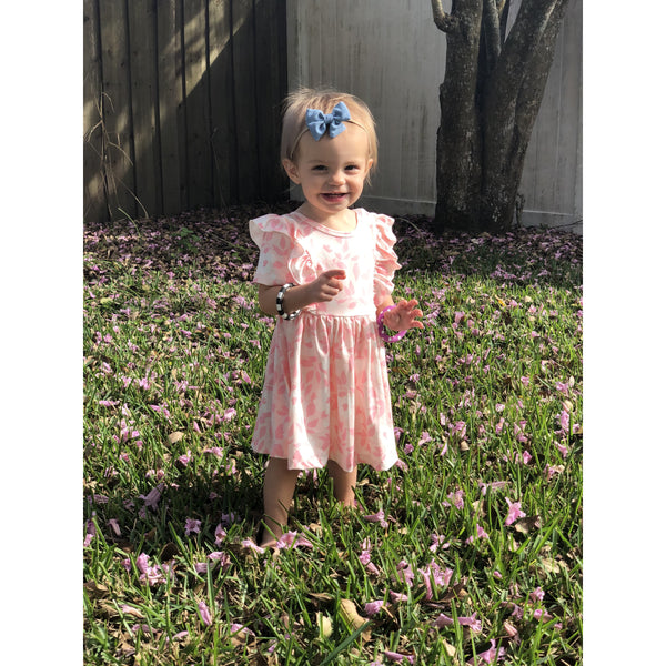 Pink Buds Twirl Dress by Mila & Rose